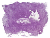Impresión del bicromato de la goma Fotos de archivo