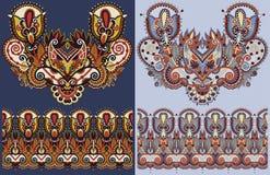 Impresión del bordado del collar para el diseño de la moda libre illustration