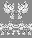 Impresión del bordado del collar para el diseño de la moda Imagen de archivo libre de regalías