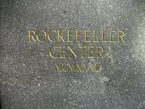 impresión del centro de Rockefeller fotos de archivo libres de regalías