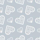 Impresión del día de tarjetas del día de San Valentín Impresión del amor Modelo inconsútil de los corazones abstractos del cordón stock de ilustración