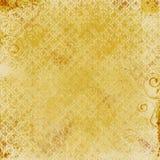 Impresión del damasco del oro Fotografía de archivo