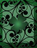 Impresión del irlandés con el trébol ilustración del vector