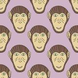 Impresión del mono Modelo inconsútil del chimpancé Vector el fondo para la materia textil, wallpaper, imprima, papel de embalaje  Imagen de archivo libre de regalías