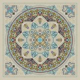 Impresión del pañuelo de Paisley Foto de archivo libre de regalías