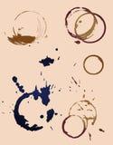 Impresión del sello de las tazas de café Ilustración del Vector