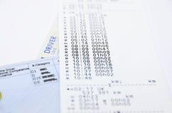 Impresión del tacógrafo Imagen de archivo