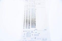 Impresión del tacógrafo Fotografía de archivo libre de regalías