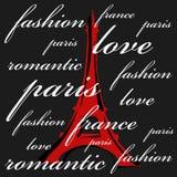 Impresión del tema de París ilustración del vector