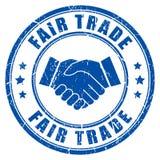 Impresión del vector de la tinta del comercio justo libre illustration