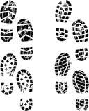 Impresión del zapato de Grunge Imagen de archivo