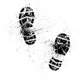 Impresión del zapato del chapoteo Fotos de archivo