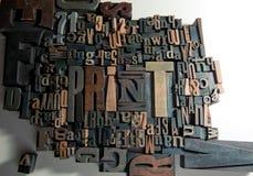 Impresión en madera Imagen de archivo