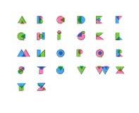 Impresión estilizada geométrica de la compensación, anáglifo, fuente del efecto de la impresión sobrepuesta Utilice las letras pa Libre Illustration