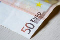 Impresión euro del billete de banco Imagen de archivo