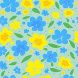 impresión Fondo inconsútil con las flores Foto de archivo libre de regalías