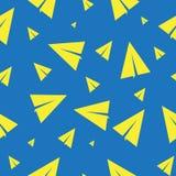 impresión Fondo inconsútil con los aviones paperfolded Imagen de archivo libre de regalías