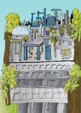 Impresión futura de la ciudad Imagenes de archivo