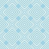 Impresión geométrica azul claro Modelo inconsútil Imagen de archivo libre de regalías