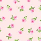Impresión inconsútil del vector de la acuarela delicada de las rosas Foto de archivo