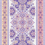 Impresión inconsútil floral india hermosa del ornamento de Paisley étnico stock de ilustración