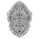 Impresión india bohemia de la mandala Estilo del tatuaje de la alheña del vintage Fotos de archivo libres de regalías