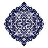Impresión india bohemia de la mandala Estilo del tatuaje de la alheña del vintage Fotografía de archivo