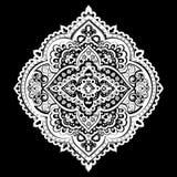 Impresión india bohemia de la mandala Estilo del tatuaje de la alheña del vintage Imágenes de archivo libres de regalías