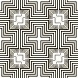 Impresión más-formada blanco y negro inconsútil abstracta ilustración del vector