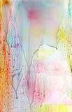 Impresión multicolora texturizada pintada extracto Fotografía de archivo libre de regalías