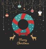 Impresión para las decoraciones de la Navidad Imágenes de archivo libres de regalías