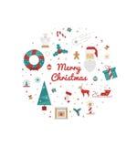 Impresión para las decoraciones de la Navidad Foto de archivo libre de regalías