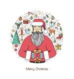 Impresión para las decoraciones de la Navidad Fotos de archivo