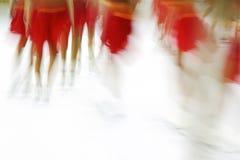 Impresión patinadora sincronizada imagen de archivo