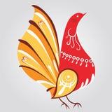 Impresión rusa del pájaro del estilo Fotografía de archivo libre de regalías