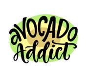 Impresión sana de la camiseta del vegano divertido adicto del aguacate libre illustration