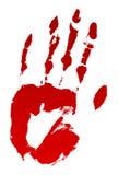 Impresión sangrienta de la mano stock de ilustración