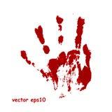 Impresión sangrienta de la mano Imagenes de archivo