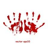 Impresión sangrienta de la mano Imagen de archivo libre de regalías