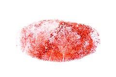 Impresión sangrienta roja del pulgar foto de archivo libre de regalías