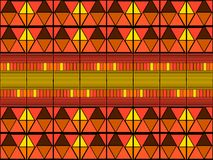 Impresión tribal del arte de Ikat Modelo africano inconsútil stock de ilustración