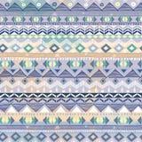 Impresión azteca azul en colores pastel Imagenes de archivo