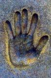 Impresión de la mano Imagenes de archivo