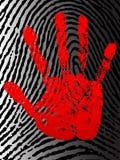 Impresión de la mano. Fotografía de archivo libre de regalías