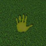 Impresión de la mano del bosque Fotografía de archivo libre de regalías