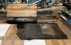Impresión de la pantalla y tinta negra Imagenes de archivo
