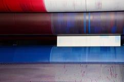Impresión en offset de la tendencia - detalle Fotografía de archivo