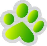 Impresión verde de la pata Imagenes de archivo