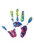 Impresione de la palma Fotografía de archivo libre de regalías