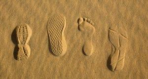 Impresiones 2 del pie Fotografía de archivo libre de regalías